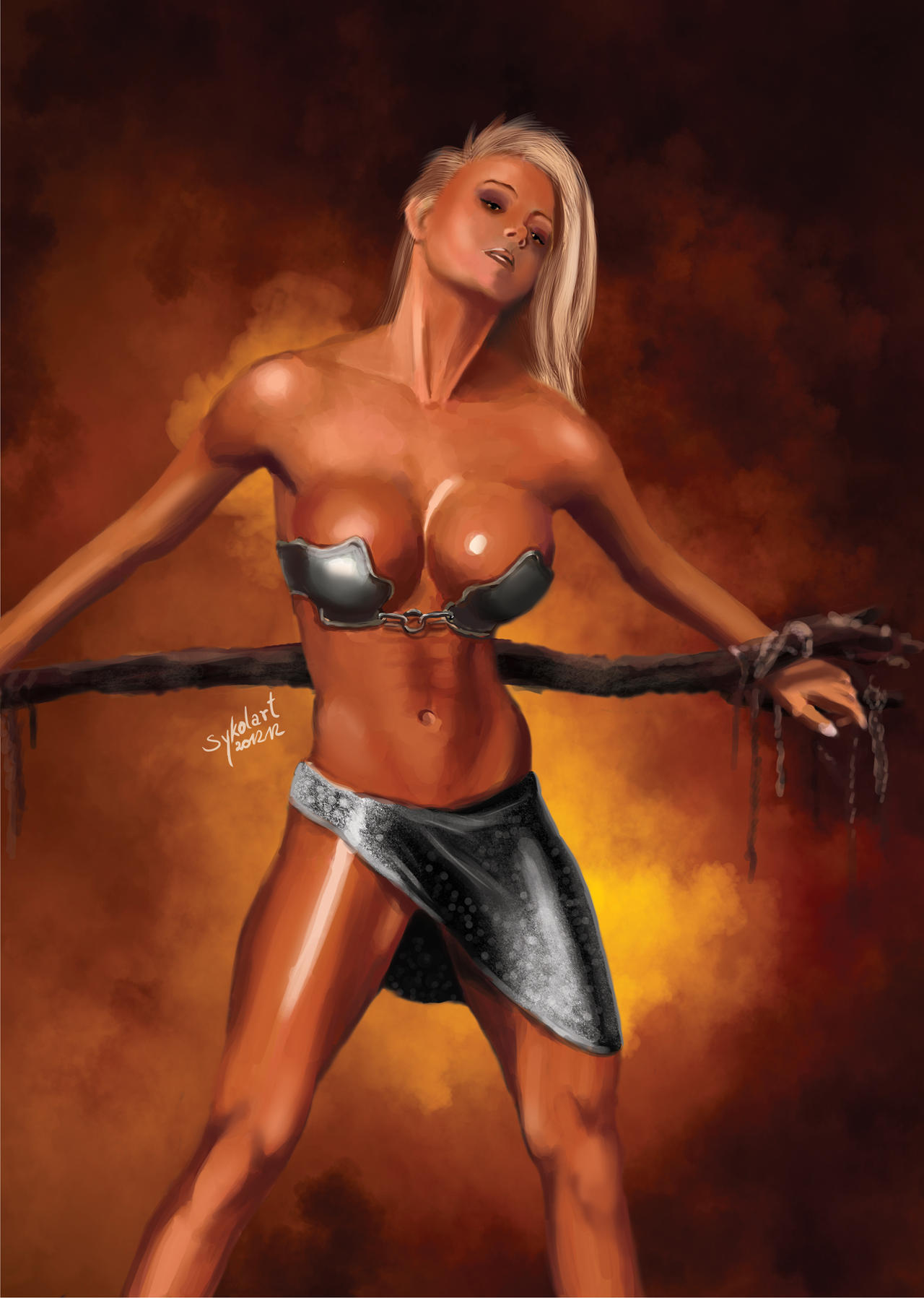 Fantasy warrior slave girl porn adult comic