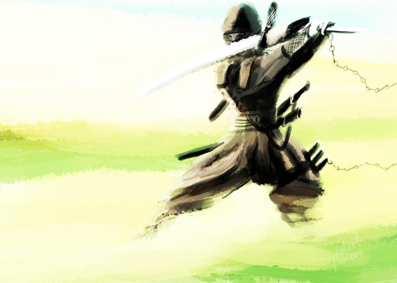 ninjaassassin sword attack by sykolart on deviantart