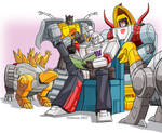 Megatron and the Dinobots