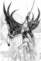 Spider-Man - Batman commission by RedShoulder