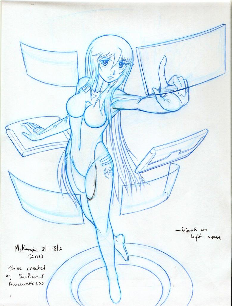 Chloe 2 drawing by RedShoulder