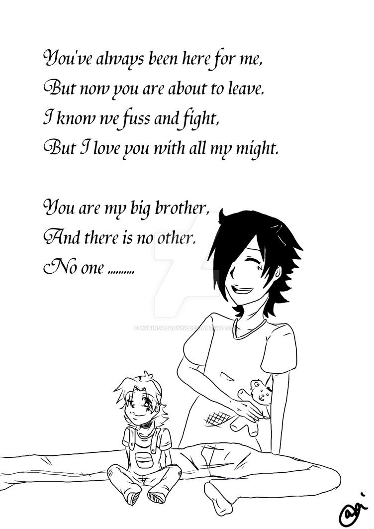 I Love You Big Brother By Xxninjababyxx On Deviantart