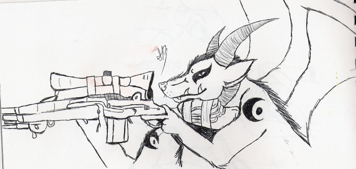 Sniper by BlackOpalDragon