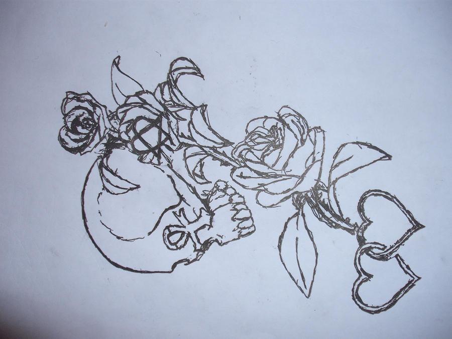 skull rose him 69 eyes tattoo by silntagl on deviantart. Black Bedroom Furniture Sets. Home Design Ideas