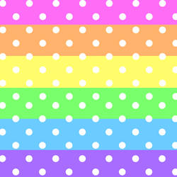 Pastel Rainbow And White Dots by Rosewood-Blaze