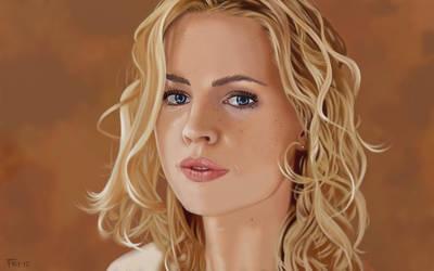 Melissa George Portrait. by garrypfc