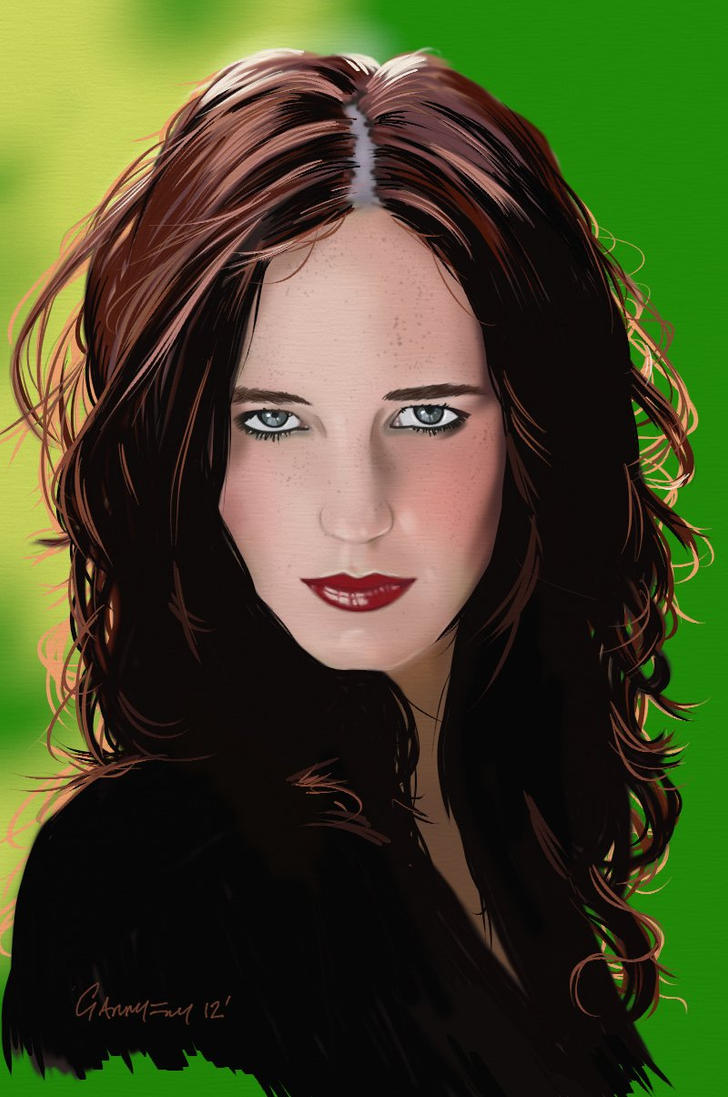 Eva Green Portrait by garrypfc