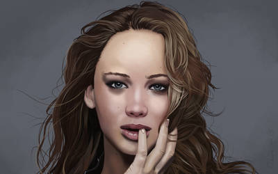 Jennifer Lawrence Portrait. by garrypfc