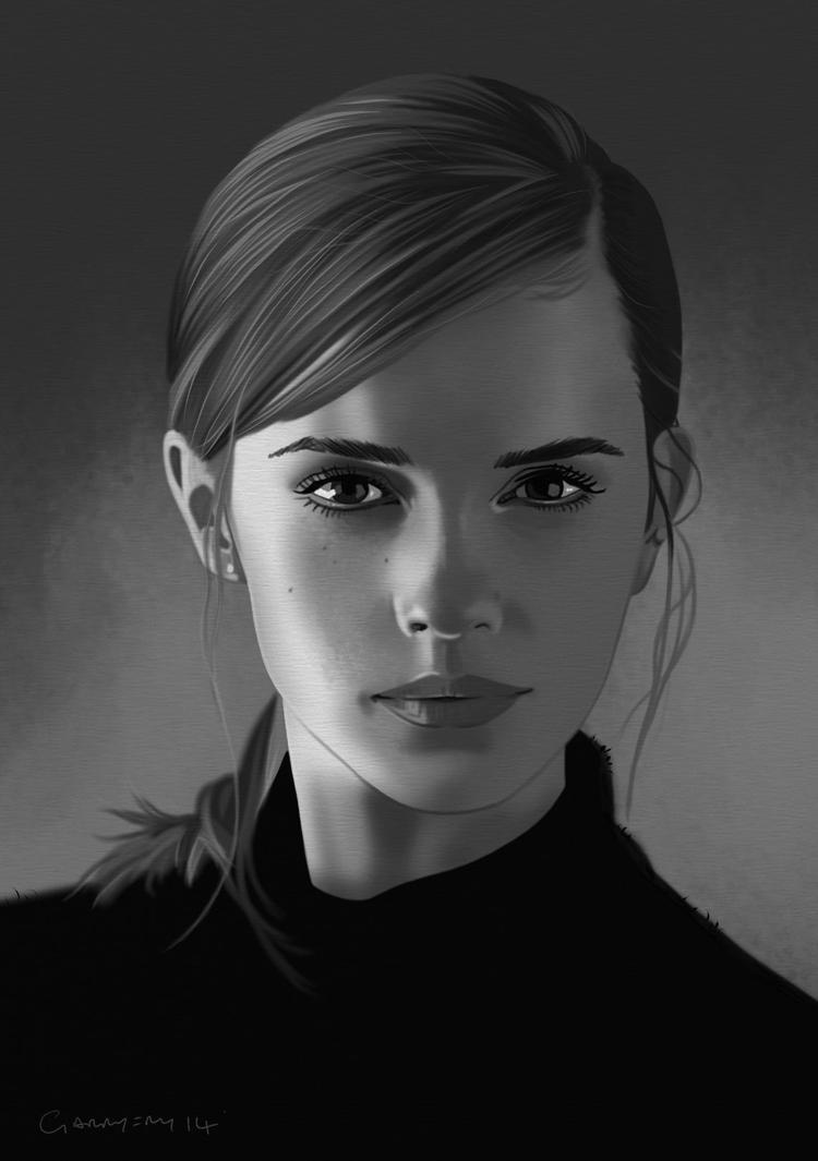Emma Watson Portrait. by garrypfc