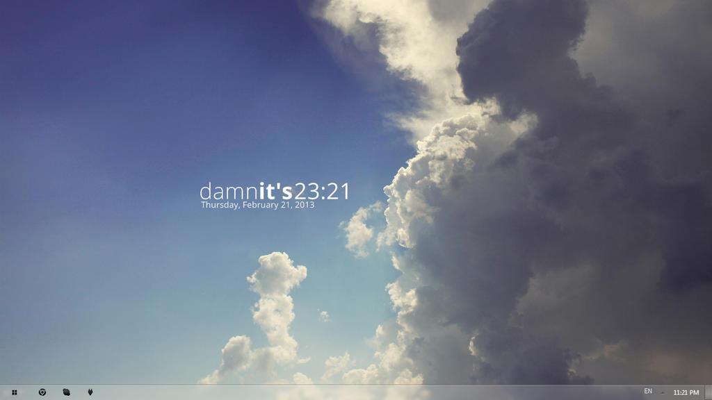 Damn clouds.