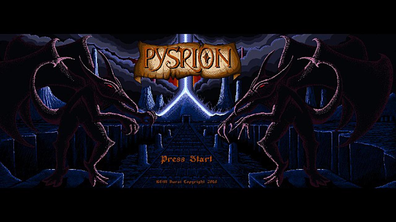 Pysrion Title Screen Mock Up