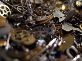 Gears cogs clockwork No.1 by redrockstock