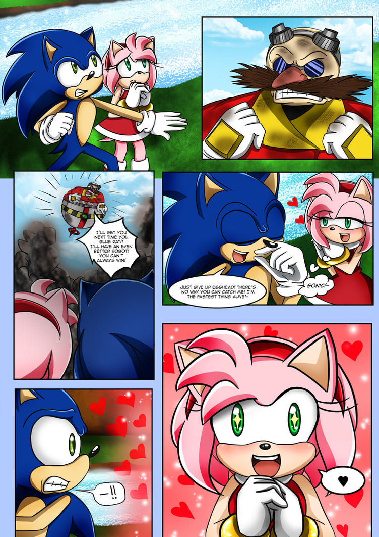 sonic comic 1 page 2 by mcanime art on deviantart
