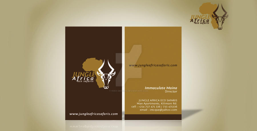 Jungle africa business cards by niko designs on deviantart jungle africa business cards by niko designs colourmoves