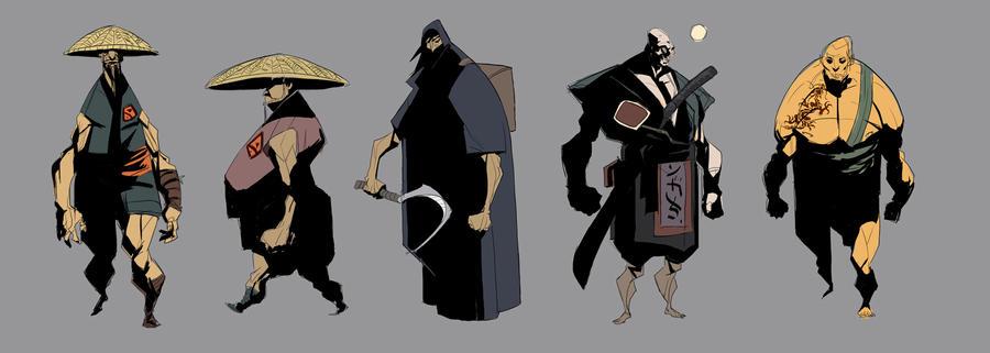 samurai concepts by EduardVisan