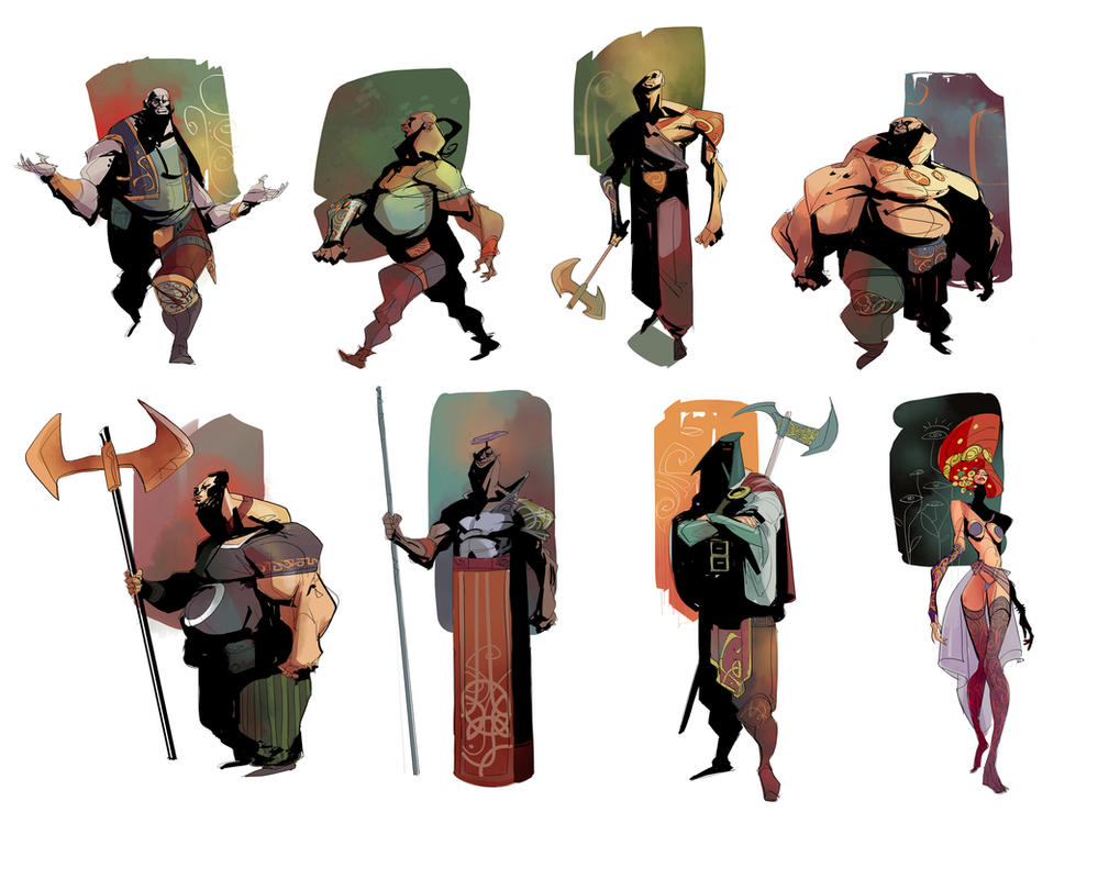 2d Character Design Books : Characters by eduardvisan on deviantart