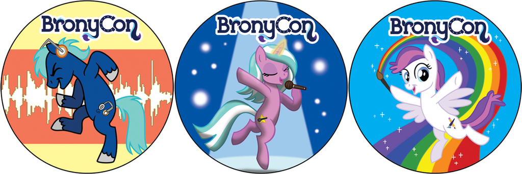 BronyCon 2014 Sidewalk Stickers by Tim-Kangaroo