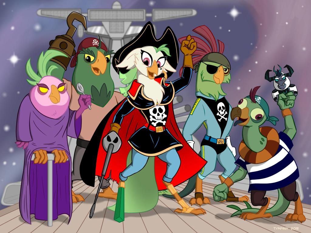 Space Parrot Captain Celaeno by Tim-Kangaroo