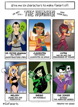 Six Fanarts Challenge 2: The Humans!