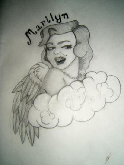 marilyn memoriam tattoo flash by mutilatedgothchild on deviantart. Black Bedroom Furniture Sets. Home Design Ideas