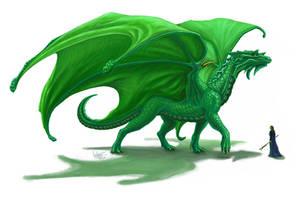 Emerald Dragon by PutridusCor