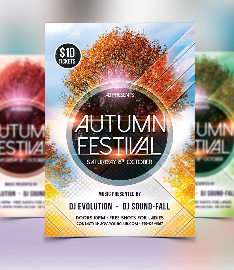 Autumn Festival Flyer Template By Arrow3000graphics On Deviantart