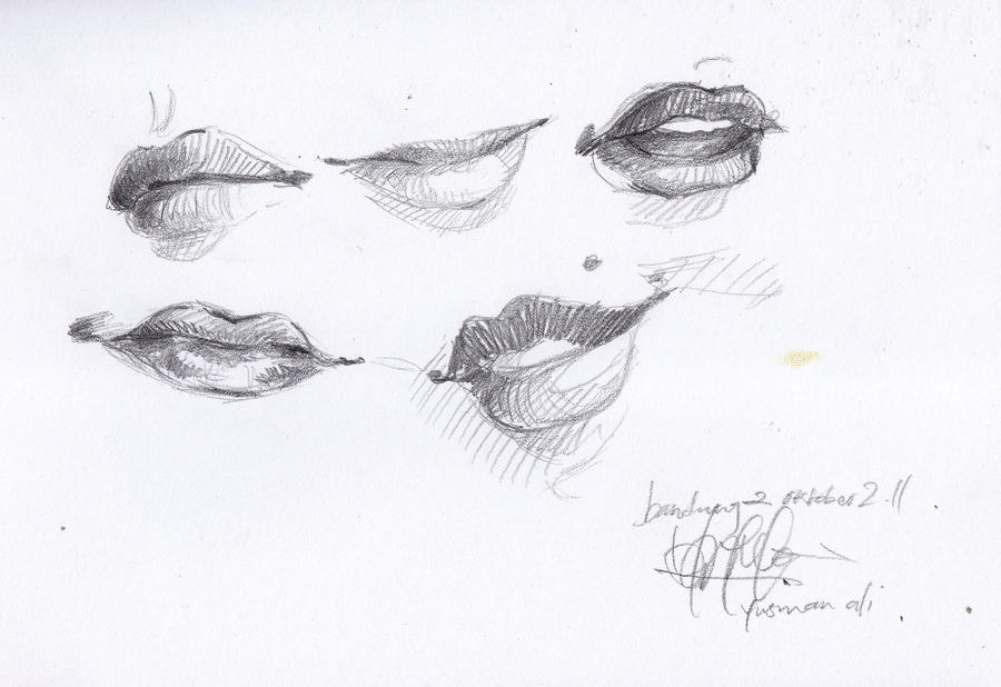 lips sketch by bellamyc on deviantART: becuo.com/closed-lips-sketch