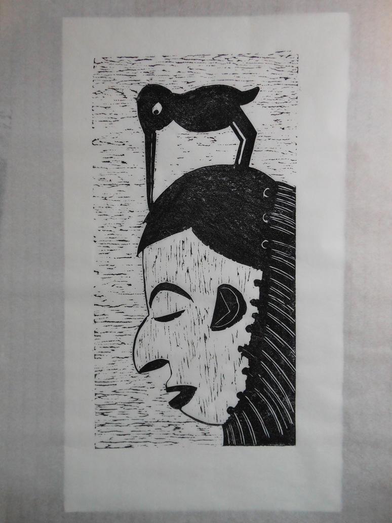 masque de l'oiseau picoreur by spetillon