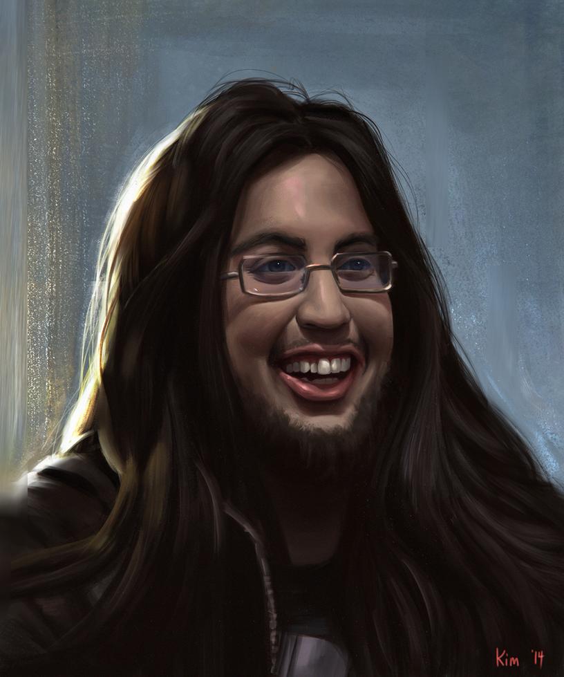 portrait of a beautiful man imaqtpie by chriskimart on