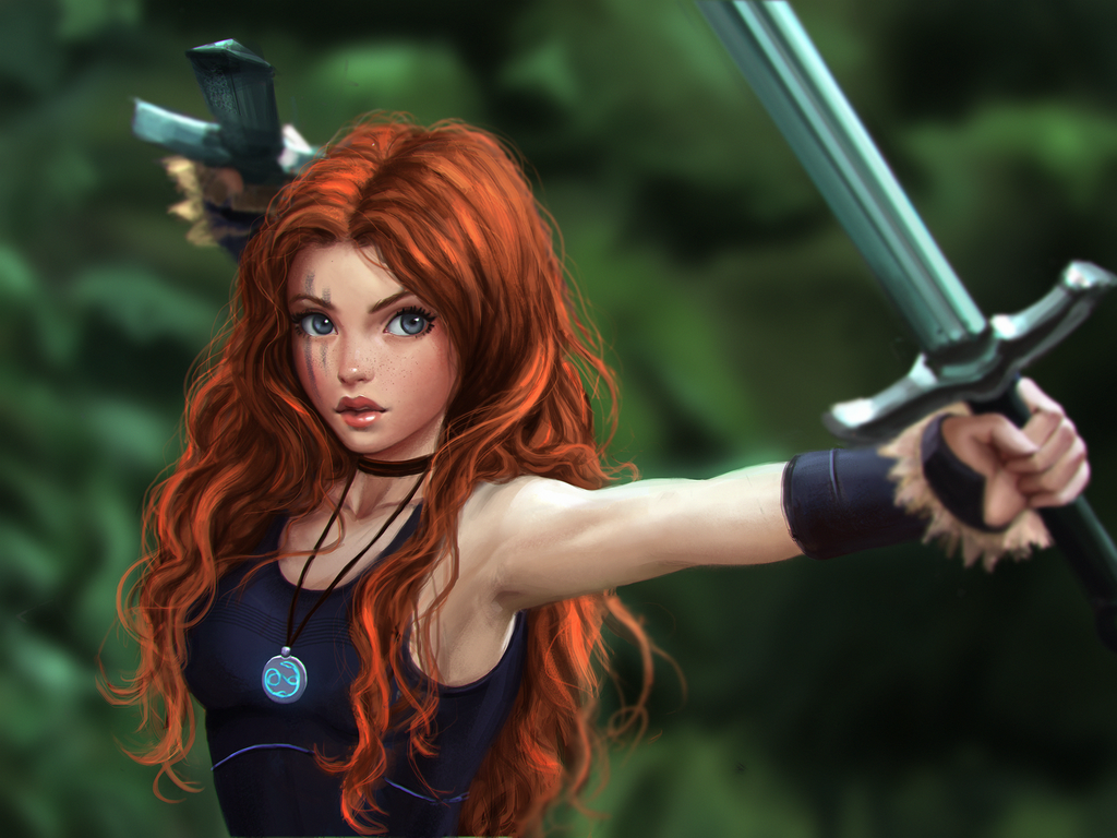 Celtic Warrior Princess By ChrisKimArt On DeviantArt