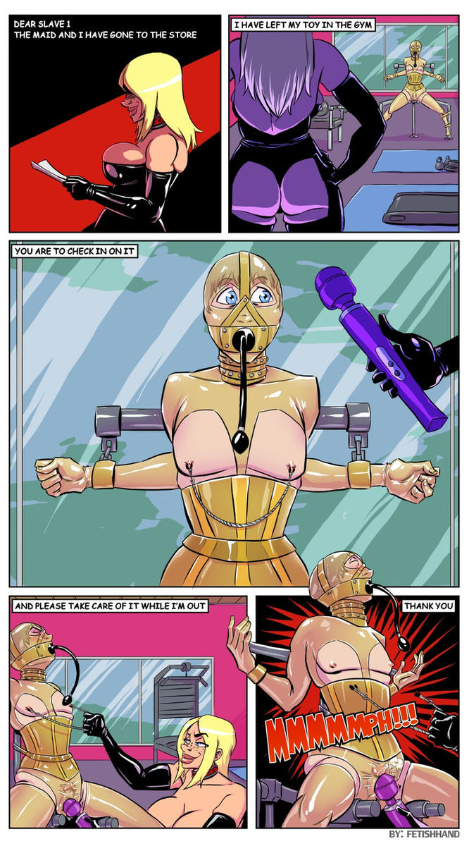 The Latex Couple: Captive Toy by Fetishhand