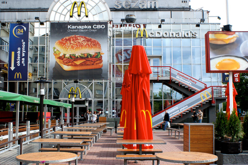 Maccas in Warsaw unlike U.S.A. by spyed