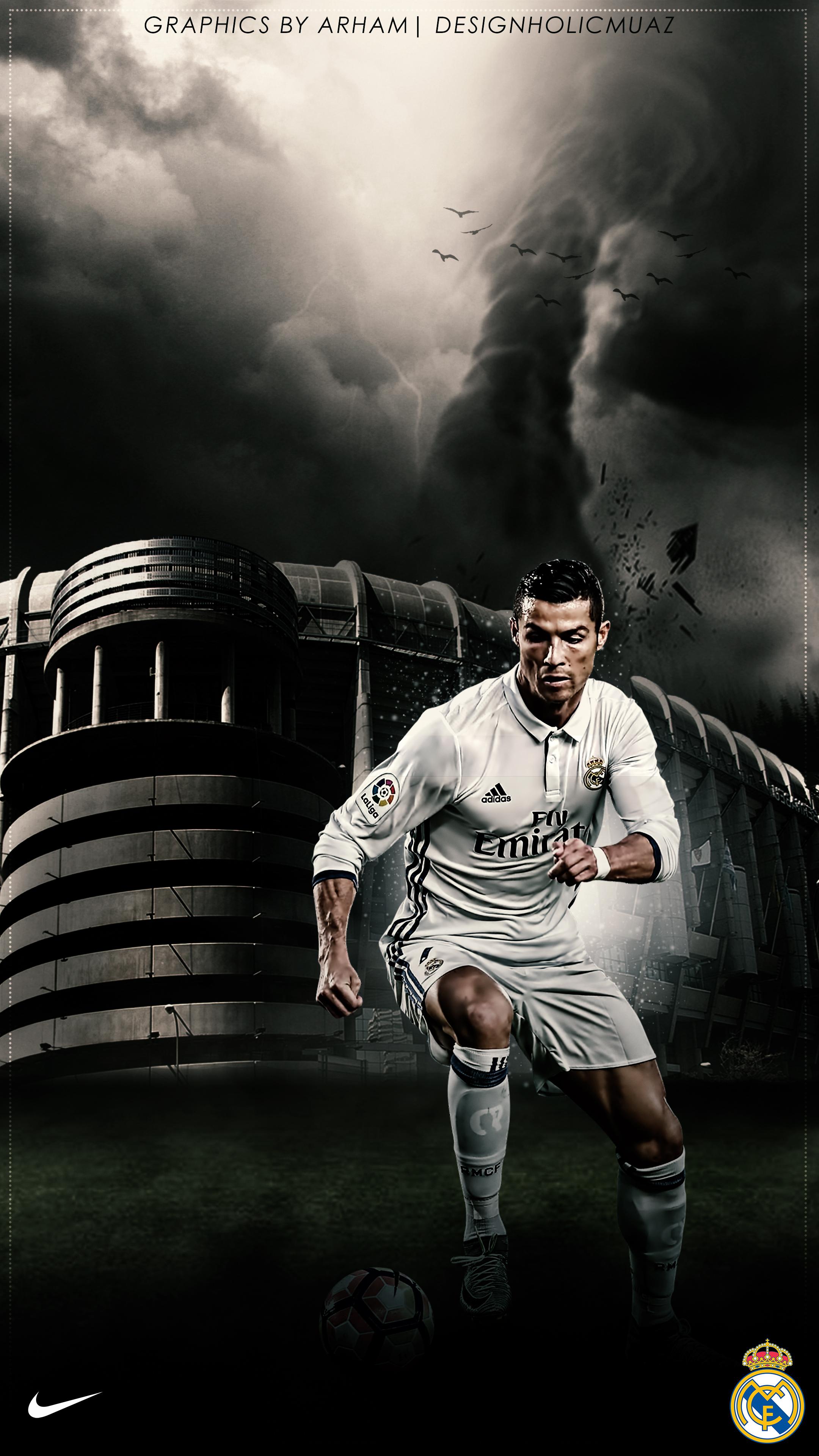 Cristiano Ronaldo Real Madrid Wallpaper By Muajbinanwar On Deviantart