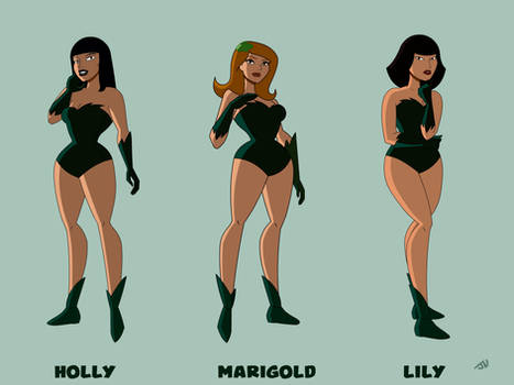 Holly, Marigold, and Lily