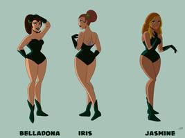 Belladonna, Iris, and Jasmine