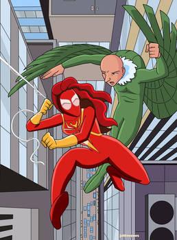 Spider-Girl (Mary Jane) vs. Vulture