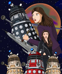 Sentinel of the Daleks- Fanfic Cover by jettmanas