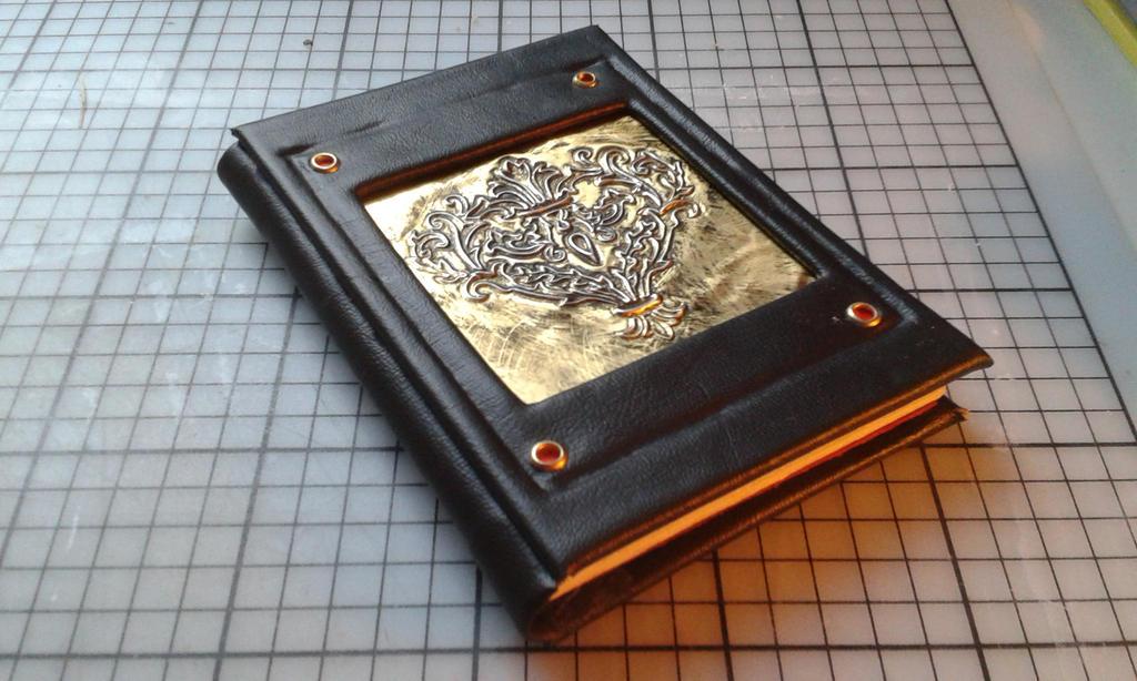Golden heart notebook by Dea-Triformis