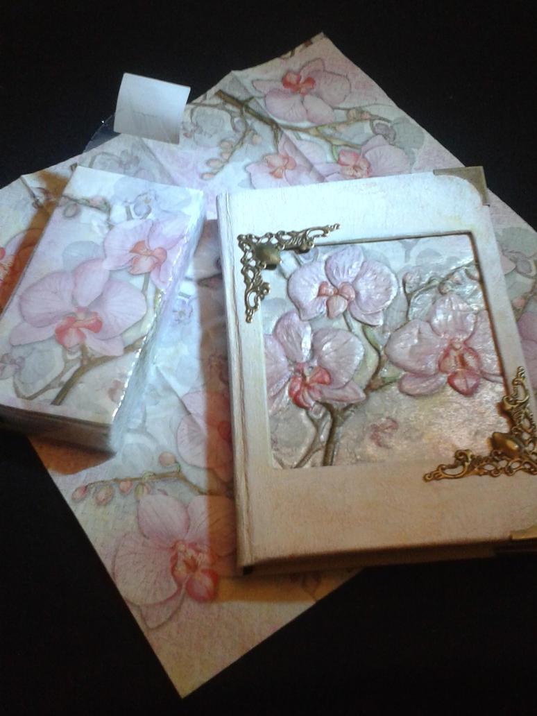 Orchids notebook by Dea-Triformis