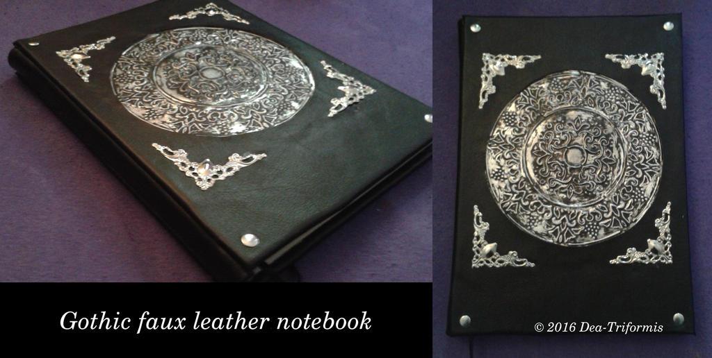 Black gothic notebook by Dea-Triformis
