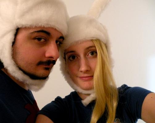 Finn's and Fionna's hats by Ligechan