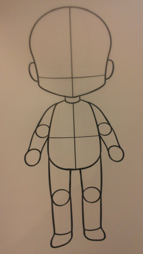 Free Chibi Body Template By Kaotikkupkake On Deviantart