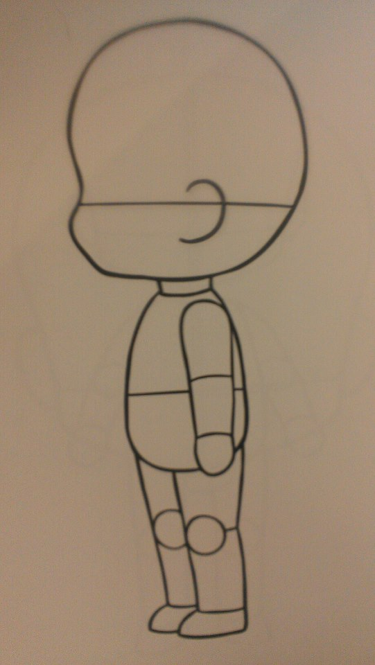 FREE chibi template side by KaotikKupkake on DeviantArt