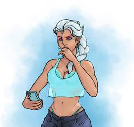 Bimbo Elsa by lewdevic