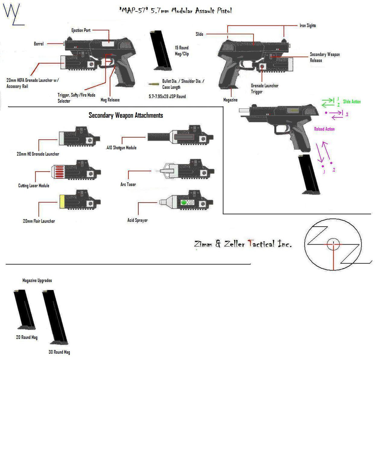 """MAP-57"" 5.7mm Pistol Info by KillSwitchWes"
