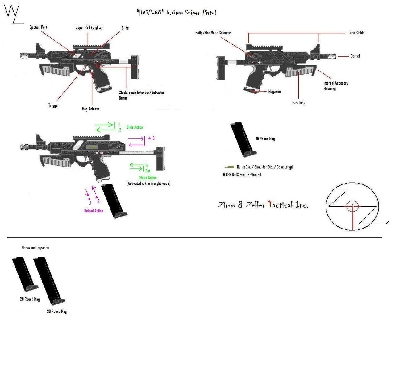 'HVSP-68' 6.8mmSniper Pistol by KillSwitchWes