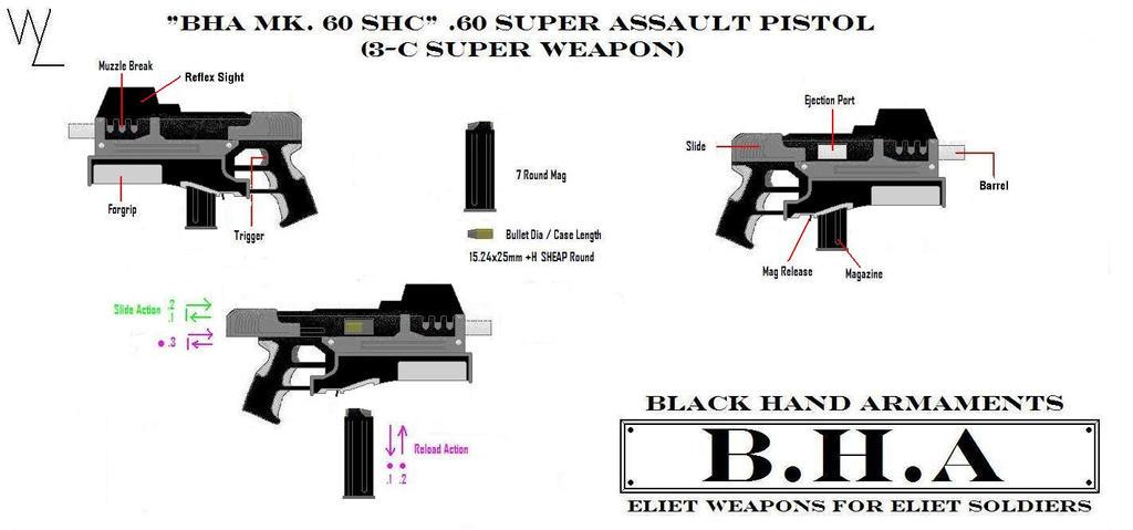 """""""BHA Mk. 60 SHC"""" .60 Pistol by KillSwitchWes"""
