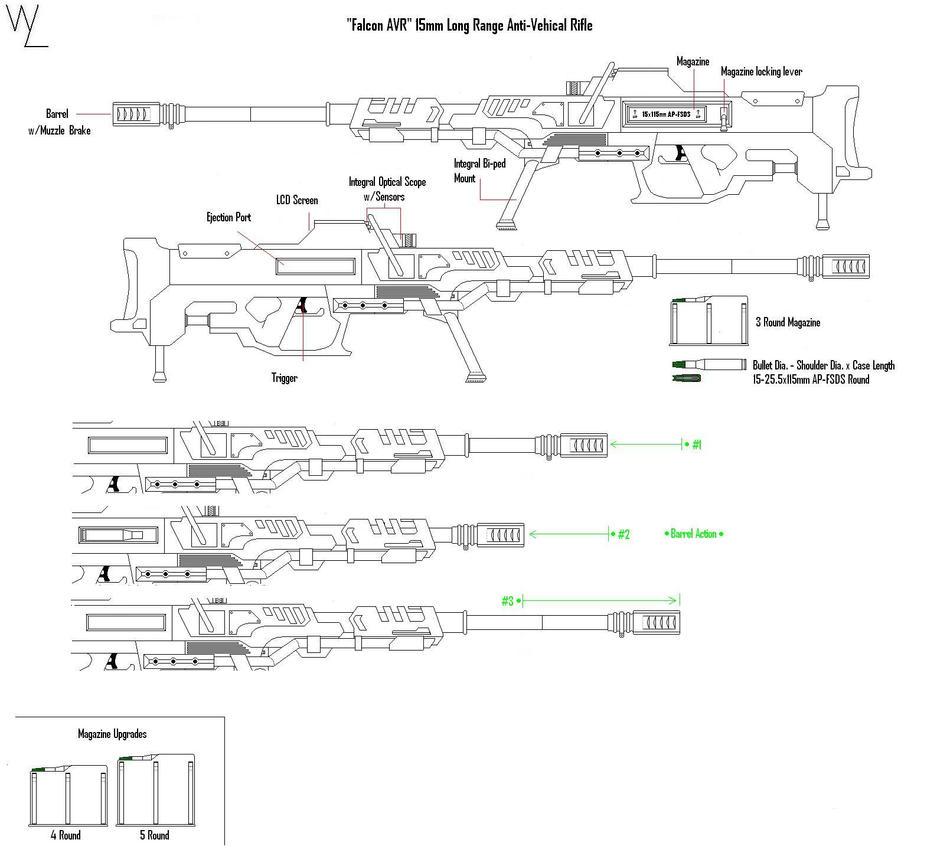 """Falcon AVR"" 15mm AV Rifle by KillSwitchWes"