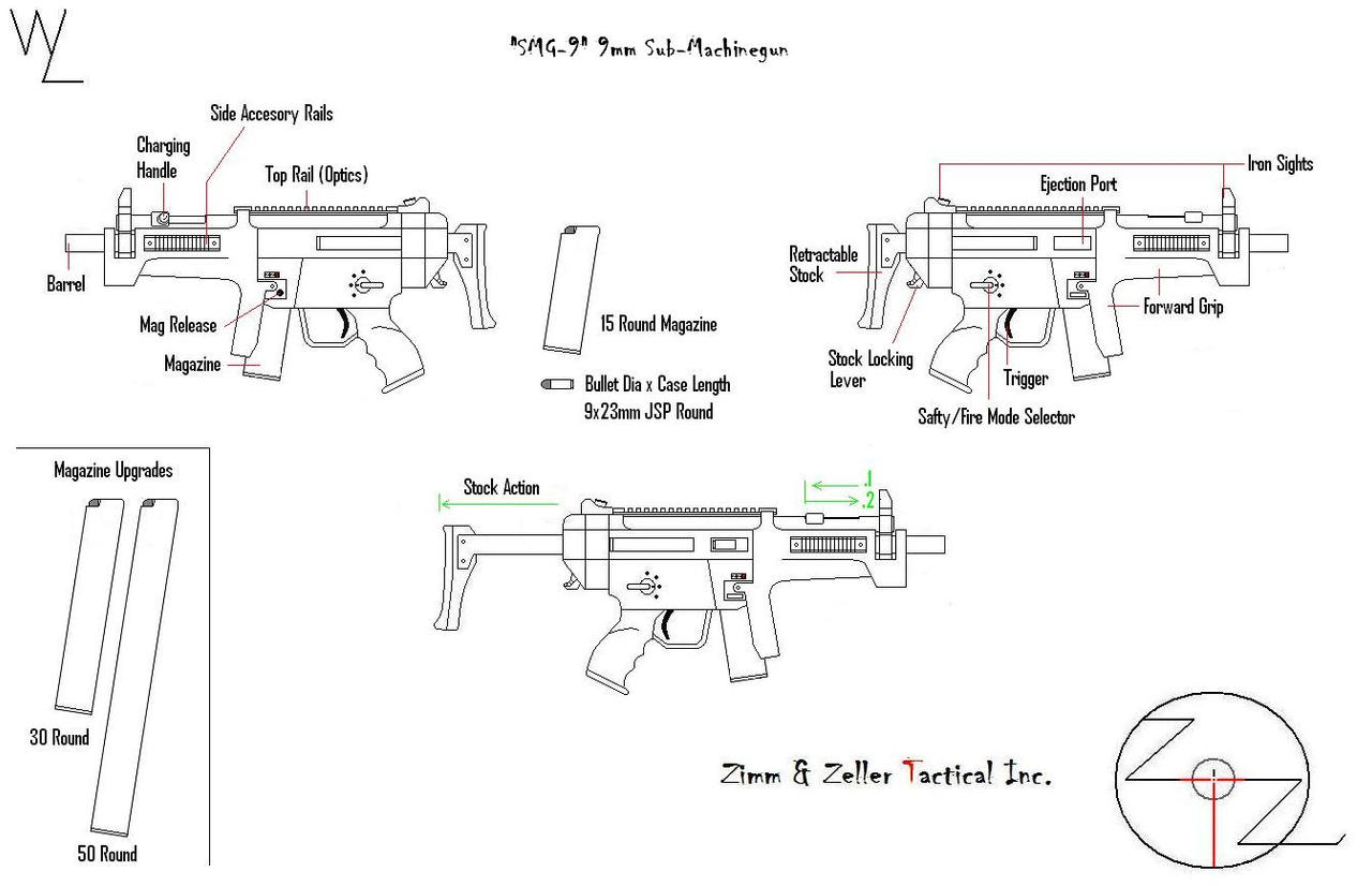 """SMG-9"" 9mm SMG by KillSwitchWes"