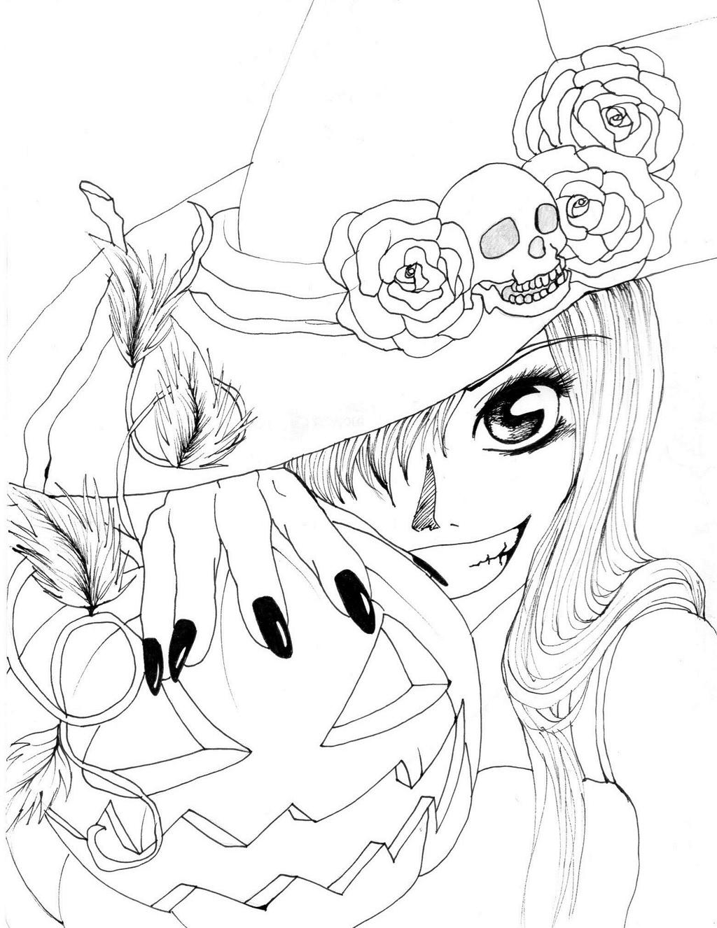 Line Art Halloween : Happy halloween lineart by conzy on deviantart